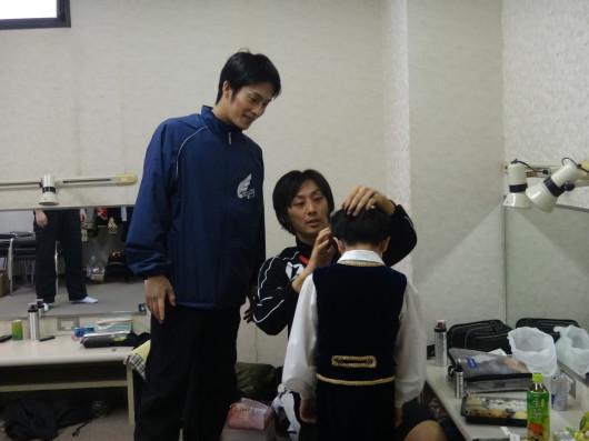 知らぬ間に男子の髪を直してかっこよくしてくださったゲストの先生方に感謝!
