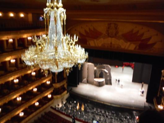 ボリショイ劇場バックステージツアー中 最上階からの眺めです